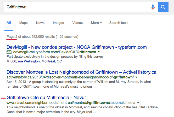 SEO Keywords For Navut startup Griffintown