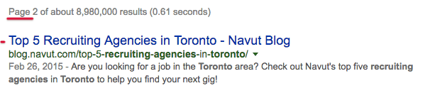 SEO Keywords For Navut startup on Employment Agencies Toronto
